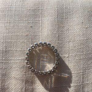 Silpada Jewelry - Silpada Sterling Silver CZ Eternity Band R2937
